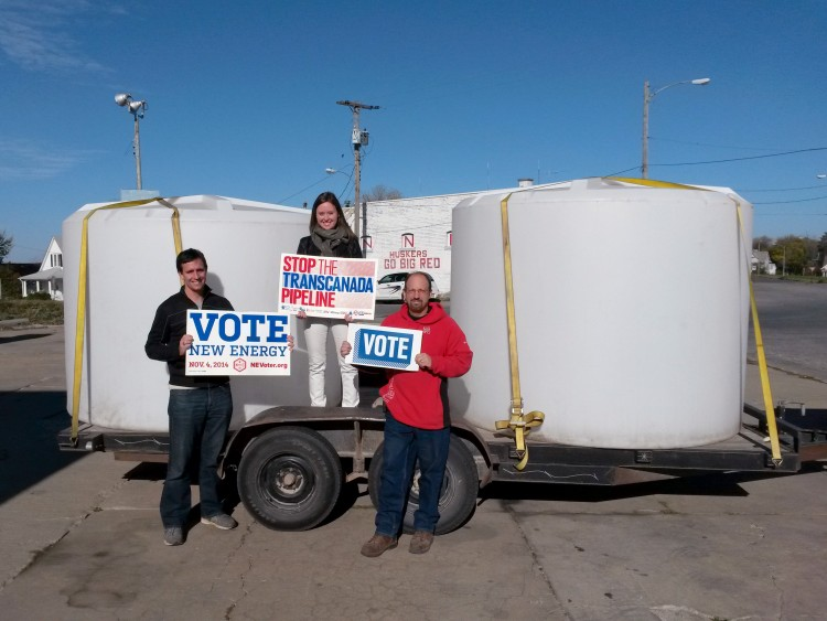 Omaha Biofuels Coop's new storage tanks